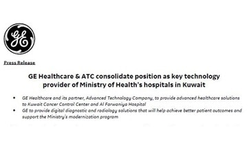 GE Healthcare in Kuwait PR Eng